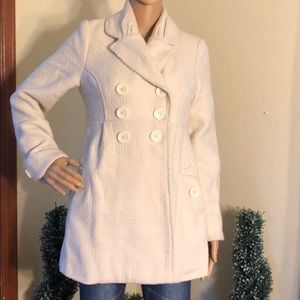 Cream Jolt Pea Coat
